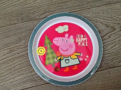 Peppy pig Plastic Plate Microwaveable Kids Children Dinner Dishwasher safe & PEPPA PIG 4 Piece Meal Time Set for Kids - Cutlery Cup Plate Plastic ...