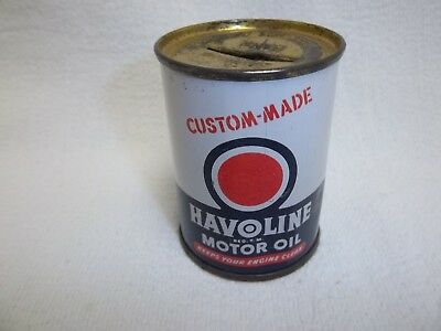 Havoline Motor Oil Coin bank Texaco  The Texas Company