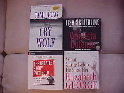 Lot 4 Audio CD Books  Vendetta Defence, Cry Wolf What Came before He Shot Her +1
