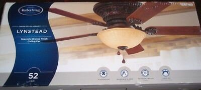 Harbor Breeze Lynstead 52 In Specialty Bronze Ceiling Fan W Light Kit New