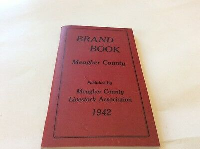 Vintage BRAND BOOK Meager Co Montana Exc cond,