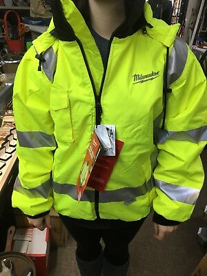 Milwaukee M12 12V High Visibility Series Lithium-Ion  Heated  gear Jacket New