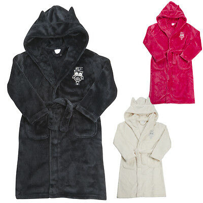 GIRLS DRESSING GOWN Robe Beautiful Flannel Fleece 7-12 Years REDUCED ...