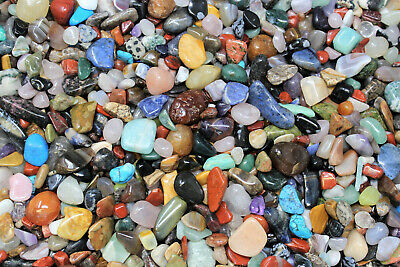 2000 Carat Lot Polished Assorted Mixed Bulk Tumbled Gemstone Mix Small