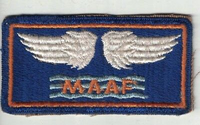 WWII US Army Air Corps MAAF Patch Original Mediterranean Allied Air Force