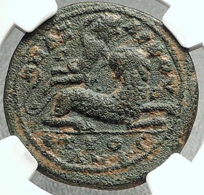 VALERIAN I Authentic Ancient Anazarbus in Cilicia Roman Coin DIONYSUS NGC i68136