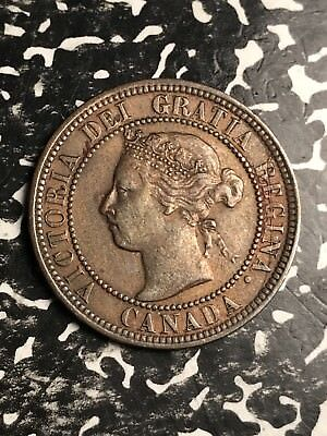 1900-H Canada Large Cent Lot#X4981 Nice!