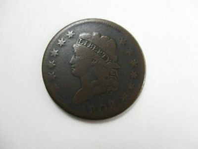 U.S. Classic Head Large Cent Coin 1808