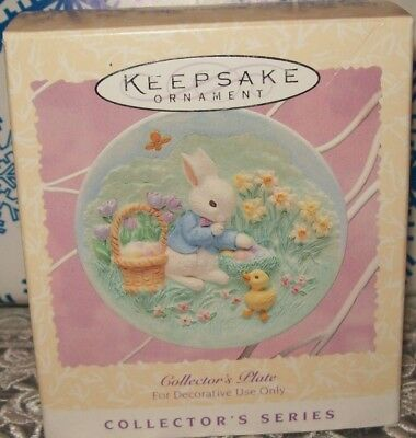 Hallmark Easter Collector's Plate #3 Series 1996 Ornaments Bunny Duck
