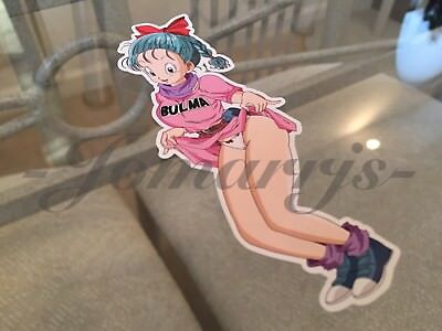 "Dragon Ball Z Anime Bulma ""Sneak Peak"" Tease Sticker Decal Vinyl Comic NSFW DBZ"