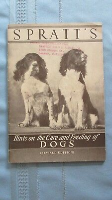 1930's Era San Francisco California Spratt's Dog Care Catalog-Feed to Breeds