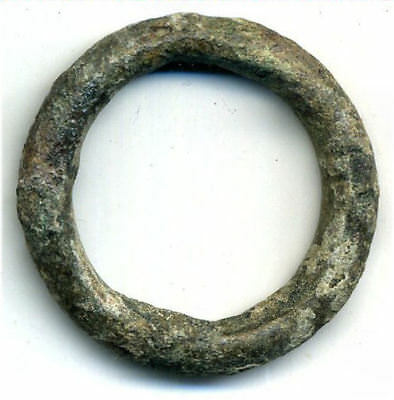 Huge (34mm, 13.6g.) authentic Ancient Celtic ring money, 800-500 BC, Danube Area