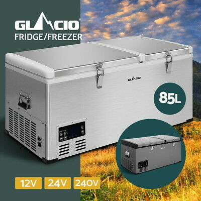 Glacio 70/85/105L Portable Fridge Freezer Cooler Camping Caravan Car Boat Home