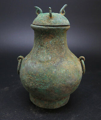 Very Rare Ancient Bronze Pot Near Eastern