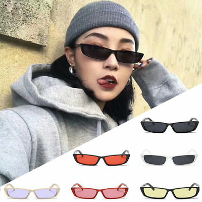 Women Vintage Small Frame Sunglasses Retro Rectangle Fashion Shade Uv400 Eyewear
