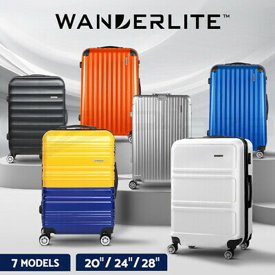 Wanderlite 1pc 2pc 3pc Luggage Suitcase Trolley Set TSA Hard Case Lightweight