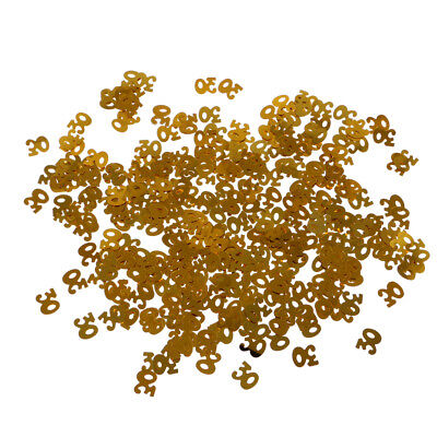 Glitter Gold 30 Table Confetti Scatter Sprinkles 30th Party Decoration DIY