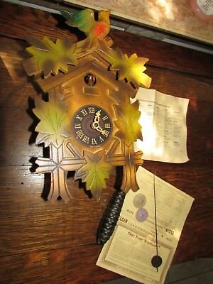 Fabulous German Cockoo Wall Clock In Original Box