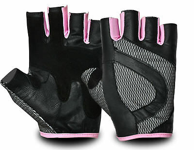 Women Gym Gloves Pink Training Exercise Fitness Bodybuilding Cycling Clearance