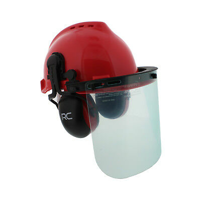 Forestry & Construction Safety Helmet – Vented Hard Hat with Visors & Earmuffs