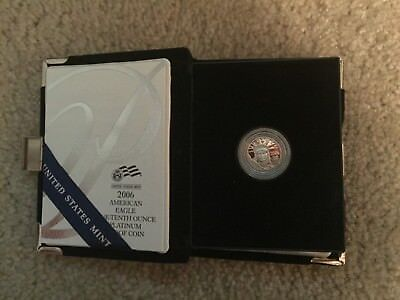 1/10 OZ. $10 2006 American Eagle Platinum Proof Coin with Box & COA