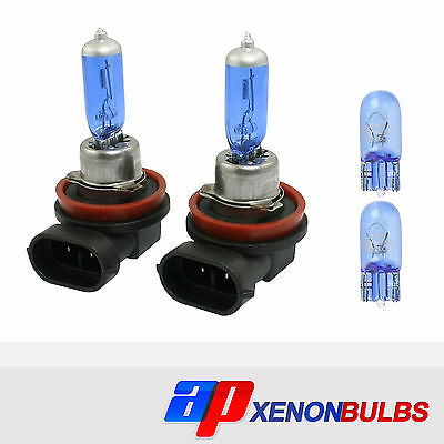 Toyota Verso H11 501 100w Clear Xenon HID Low//Side Headlight Headlamp Bulbs Set