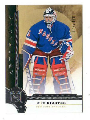 Mike Richter Nhl 2016-17 Artifacts #072 / 499 (New York Rangers)