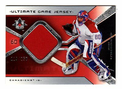 Jose Theodore Nhl 2004-05 Ultimate Collection Jerseys (Canadiens,avalanche,wild