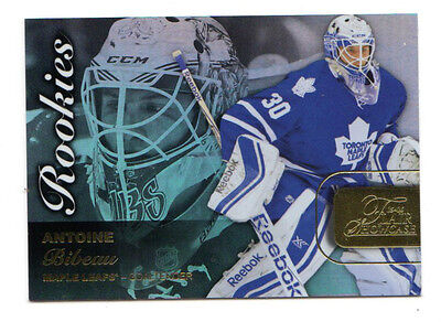 Antoine Bibeau Nhl 2015-16 Fleer Showcase Flair Rookie Card (Toronto Maple Leafs