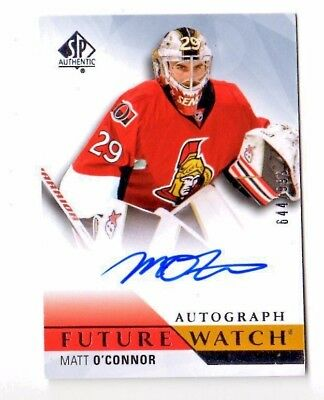 Matt O`connor Nhl 2015-16 Sp Authentic Autograph  Rc (Senators,predators)