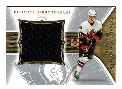 Brandon Bochenski Nhl 2005-06 Ultimate Collection Debut Threads Jersey (Senators