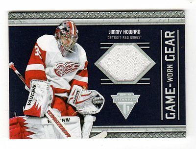 Jimmy Howard 2015-16 2011-12 Panini Titanium Game Worn Gear (Detroit Red Wings)