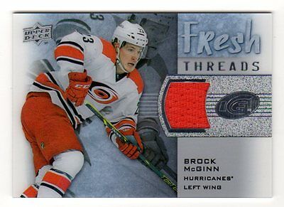 BROCK McGINN 2015-16 UPPER DECK ICE FRESH THREADS (CAROLINA HURRICANES)