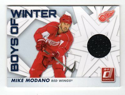 Mike Modano 2010-11 Donruss Boys Of Winter Threads (Detroit Red Wings)