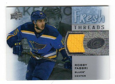 Robby Fabbri 2015-16 Upper Deck Ice Fresh Threads (St. Louis Blues)
