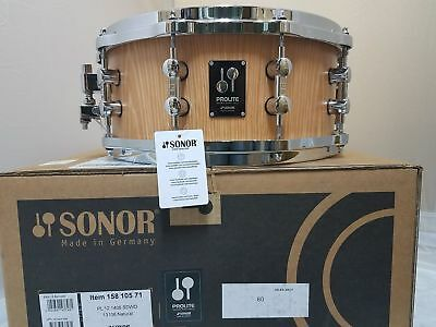 Sonor Prolite 14x6 MAKE OFFER Snare Drum Die Cast Natural NEW Authorized Dealer!