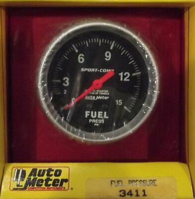 2-5/8 Inch Mechanical Fuel Pressure Gauge Autogage by AutoMeter 3411