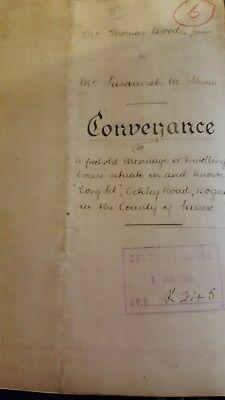 Hand written Conveyance dated 30th April 1915 for land in West Sussex
