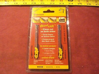 (0053.) Starrett Dual Cut Wood Cutting Jigsaw Blades BU2DCS-2