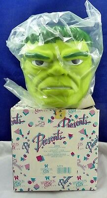 1990's Unused Figural Marvel Incredible Hulk Bank In The Box
