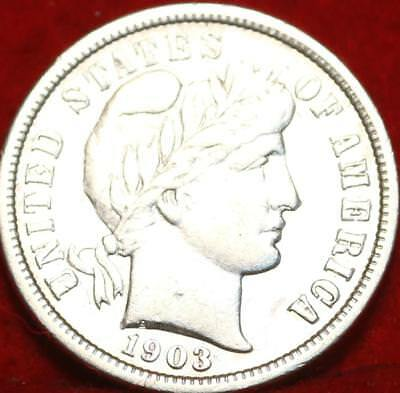 1903-O New Orleans Mint Silver Barber Dime