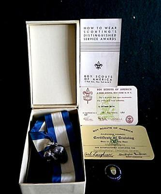 Vintage Boy Scouts Of America Silver Beaver Award And More
