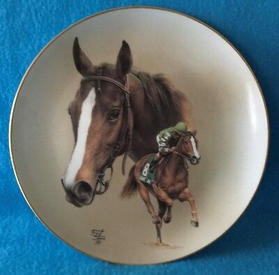 Genuine Risk Collectible Plate by Fred Stone