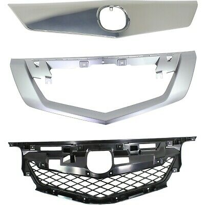 New Grille Grill Kit Chrome Acura TL 2009-2011