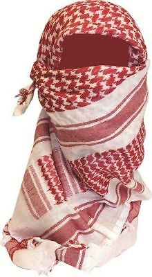 Big Red White Unisex Shemagh Arab Head Scarf Neck Wrap Cover Polyester BIG-RED-N
