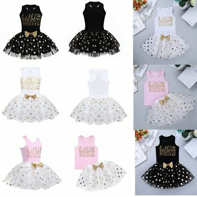 Infant Baby Girls Kids Princess Dresses Baby Infant Toddler Birthday Party Dress