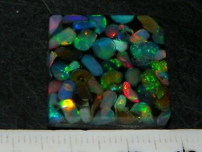 Quality Wello Crystal Opal Mosaic Bead 25cts Fires, 23mm Square, Pendant :)