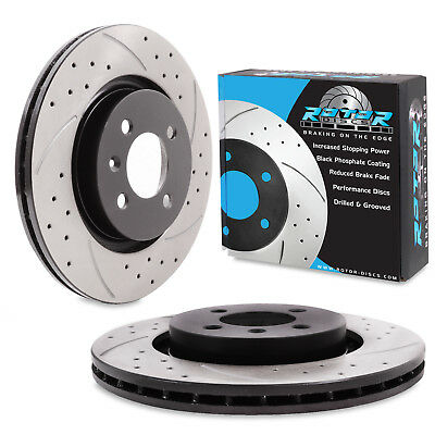 FRONT DRILLED GROOVED 280mm BRAKE DISCS FOR SEAT IBIZA 1.8 1.9 2.0 20V GTI TDi