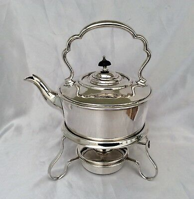 Quality JAMES DIXON & SONS For HARRODS Silver Plated Spirit Kettle & Stand C1900