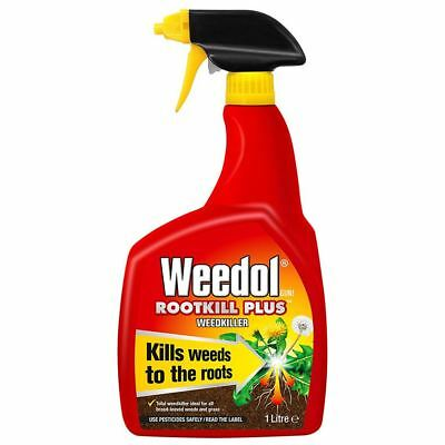 1L Weedol Fast Action garden Weed Root Killer Spray Ready to Use Weedkiller